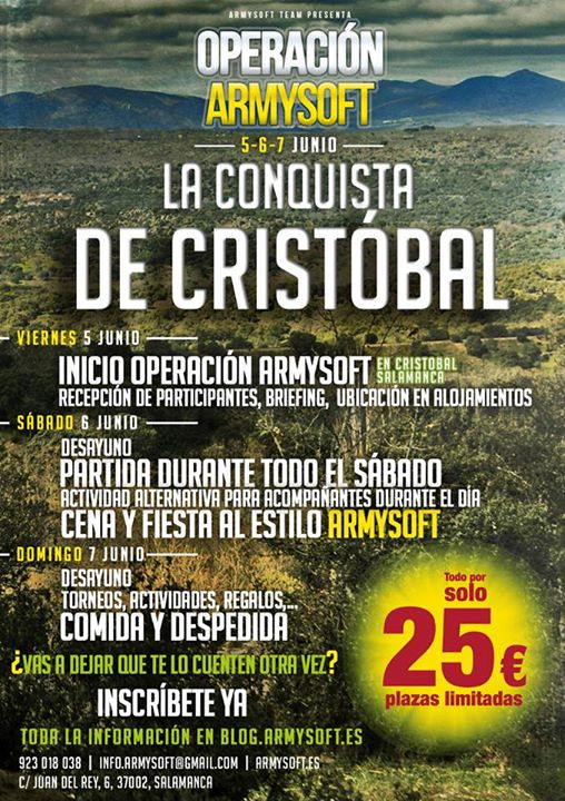 CARTEL OPERACION ARMYSOFT - LA CONQUISTA DE CRISTOBAL